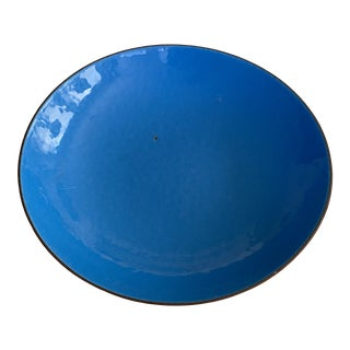 Ernst Lichtblau for Joseph Franken Blue Enamel and Copper Bowl For Sale