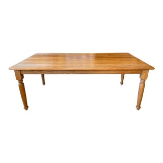Mid 20th Century French Farm House Pine Table For Sale