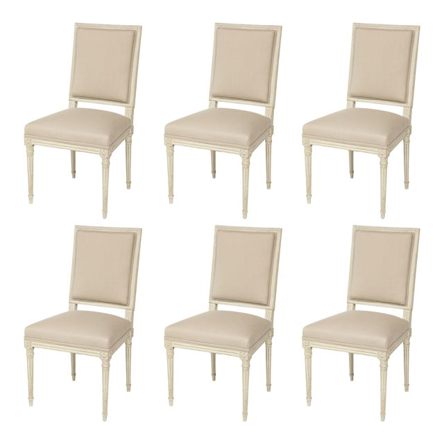 Louis XVI Style Dining Chairs - Set of 6 For Sale