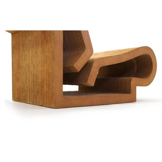 Rare Original Frank Gehry, Easy Edges, Cardboard Contour Chair For Sale - Image 10 of 10