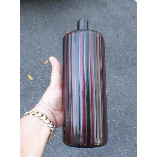 1960s Italian Murano Signed Venini Multi Striped Bottle For Sale - Image 4 of 13