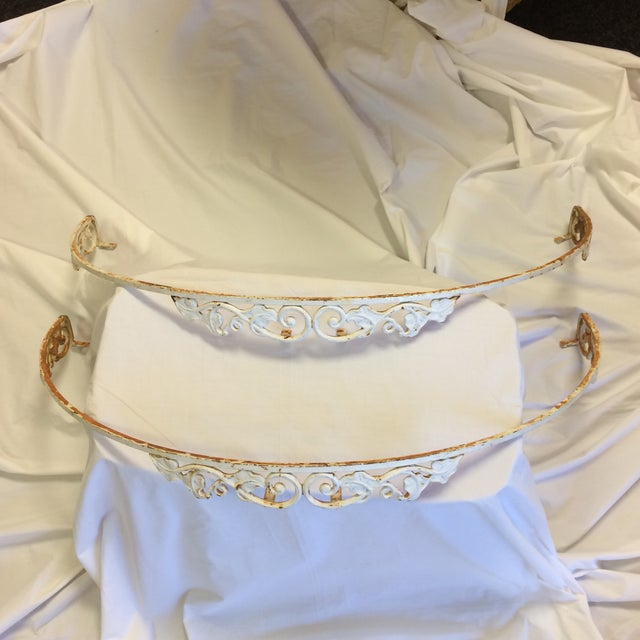 A Pair of wonderful French metal bed crowns. They can also be used for window valances. They mount from the top and can go...