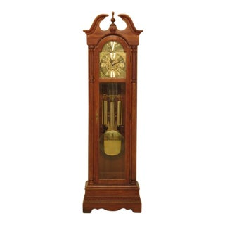 Ridgeway Cherry Grandfather Hall Clock with Moon Dial For Sale