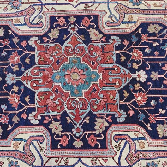 Lights Antique Persian Serapi Heriz Rug- 10′8″ × 16′ For Sale - Image 7 of 11