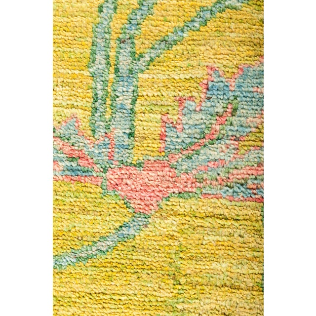 """New Yellow Hand-Knotted Rug 10' 2"""" X 13' 9"""" - Image 3 of 3"""