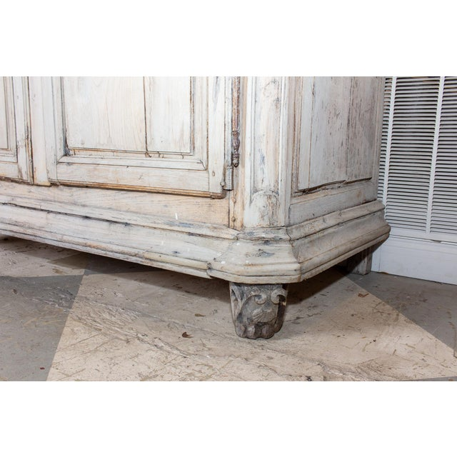 Gray 19th Century Antique French Oak Armoire For Sale - Image 8 of 13