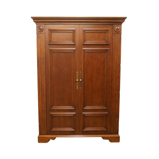 """20th Century Traditional Sligh Furniture Homeworks Home Office Collection 58"""" Computer/Media Armoire For Sale - Image 13 of 13"""