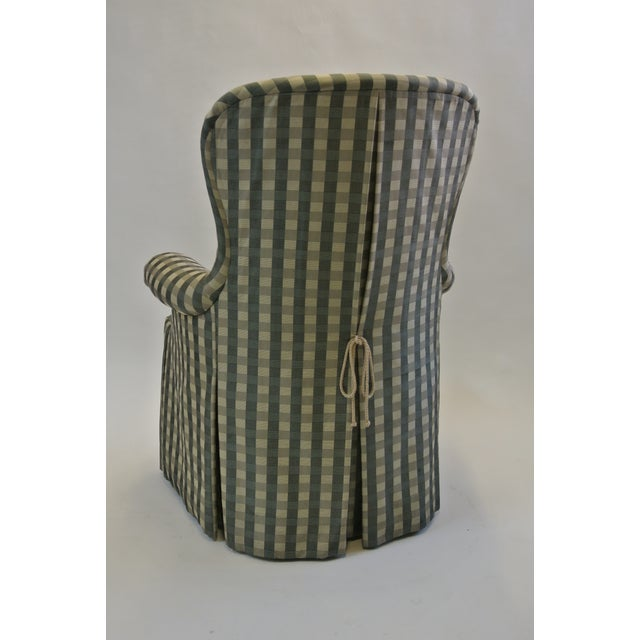 Skirted Gingham Armchair - Image 3 of 6
