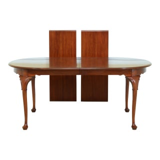 Henkel Harris Queen Anne Cherry Dining Room Table For Sale