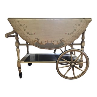 Antique Imperial Tea Cart With Wagon For Sale