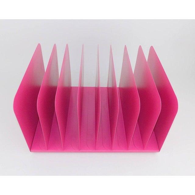 Pink Pink Metal File Organizer For Sale - Image 8 of 8