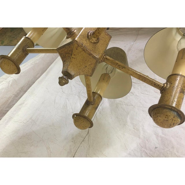 French Toleware 5 Arm Chandelier For Sale In Washington DC - Image 6 of 7