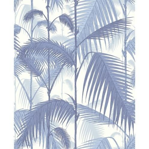 Contemporary Cole & Son Palm JungleWallpaper Roll - Blues/ White For Sale - Image 3 of 3