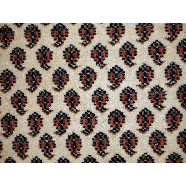 Vintage Handmade Indian Seraband Style Rug - 4′ × 5′8″ - Image 4 of 10