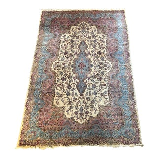 Semi Antique Oversized Persian Kerman Rug - 12′ × 18′ For Sale