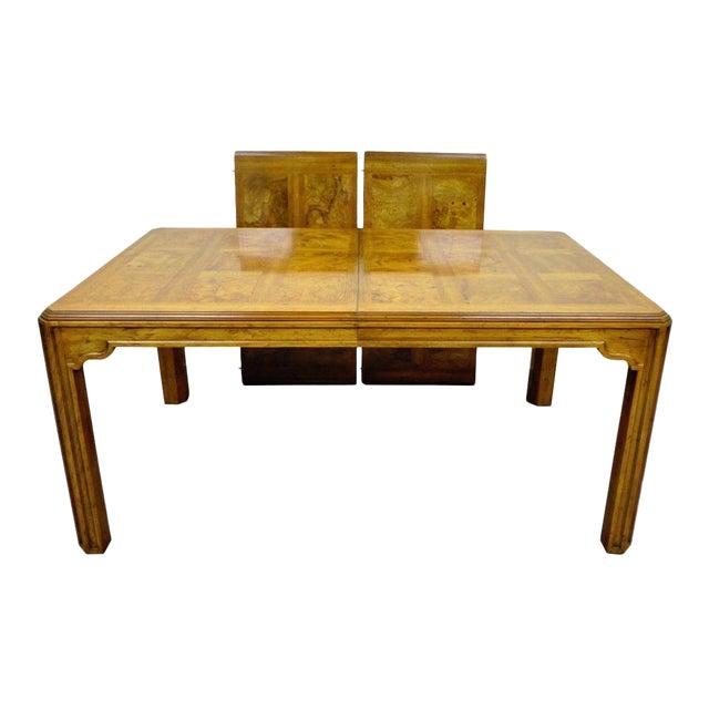 Vintage Drexel Heritage Sketchbook Dining Room Table Banded Burlwood ...