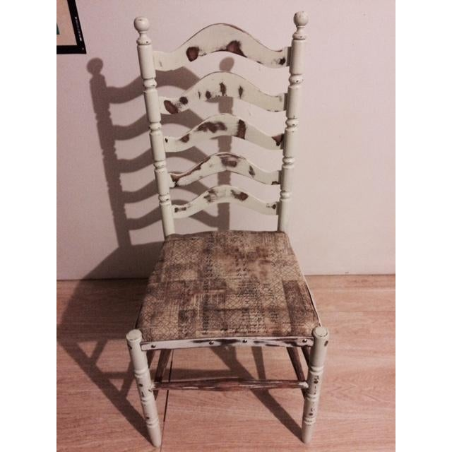 Shabby Chic Ladder Back Chair - Image 2 of 6