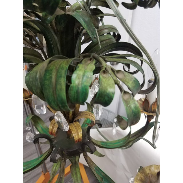 Vintage Hanging Colorful Leaf/Frond Lights - Flush Mount Ceiling - a Pair For Sale - Image 11 of 13