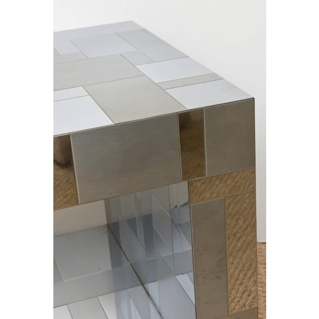 Chrome Signed Paul Evans Cityscape Side or End Sculptural Table For Sale - Image 7 of 10