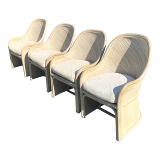 Henry Link Split Reed Chairs - Set of 4 For Sale
