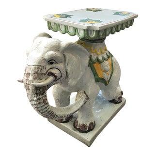 Vintage Italian Elephant Garden Stool
