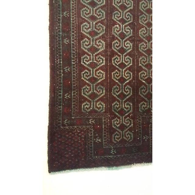 Islamic Dark Wool Turkish Rug - 2′8″ × 3′8″ For Sale - Image 3 of 8