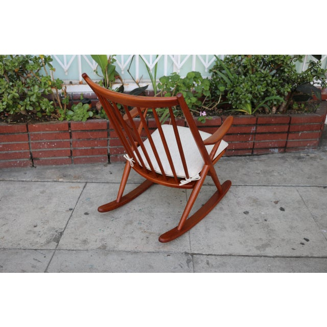 Danish Modern Danish Teak Rocking Chair by Reenshang for Bramin For Sale - Image 3 of 9