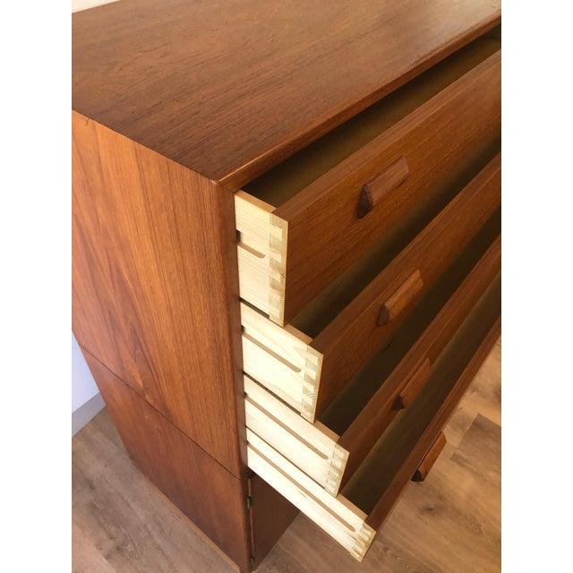 FM Mobler 1960s Mid-Century Modern Soberg Mobler 2 Piece Dresser / Bureau For Sale - Image 4 of 9