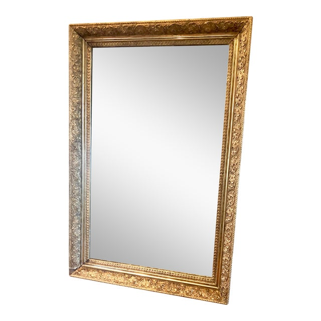 1980s Vintage Gold Frame Mirror Chairish