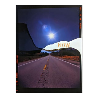 """Contemporary Abstract Photography and Paint on Wood """"Now Canyon Road"""" by Jason Engelund For Sale"""