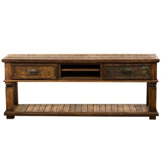 Reclaimed Peroba Rosa Wood Rustic Console Table