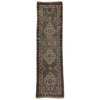 19th Century Spanish/Russian Tribal Kazak Hallway Rug - 3′2″ × 11′5″ For Sale