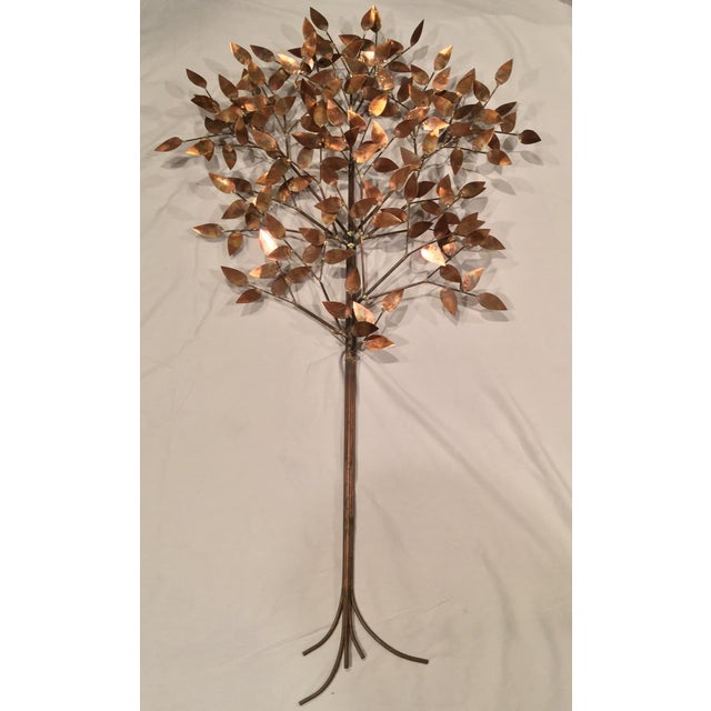Signed Curtis Jere Copper Tree Wall Sculpture For Sale In New York - Image 6 of 7