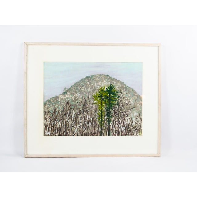 Modern Impressionist Watercolor Mountain Landscape For Sale - Image 11 of 11
