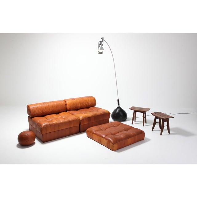 Cognac Leather Patchwork Ds 88 De Sede Sectional Sofa For Sale - Image 10 of 11