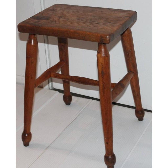 19th Century New England Pine Stool - Image 3 of 6