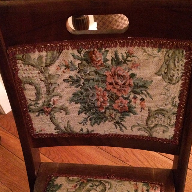Vintage Victorian Style Campaign Parlor Chairs - Set of 4 - Image 8 of 11