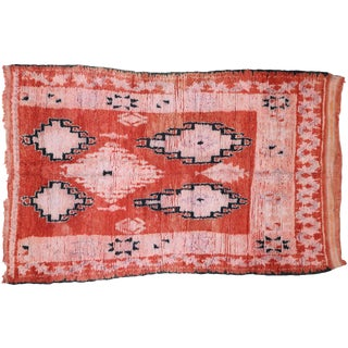 1980s Berber Moroccan Rug - 5′4″ × 8′6″ For Sale