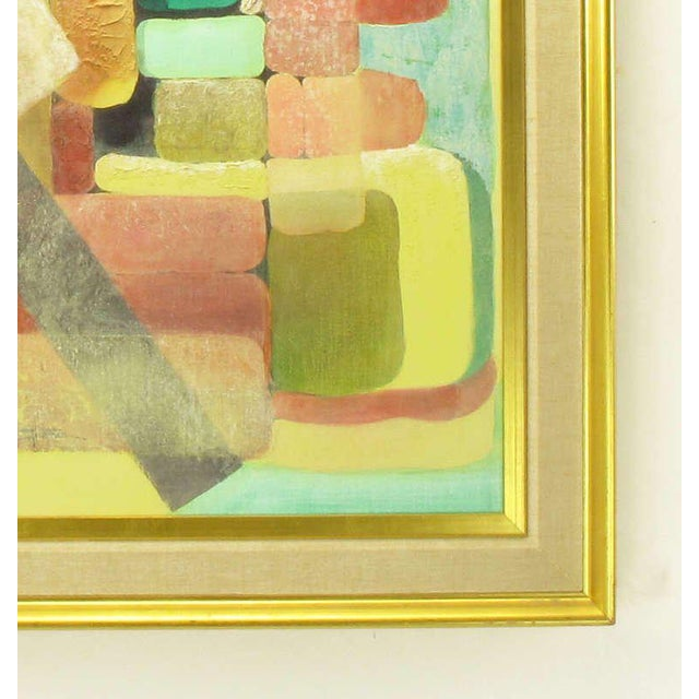 Abstract Abstract Relief Cubist Inspired Mixed Media on Canvas For Sale - Image 3 of 8