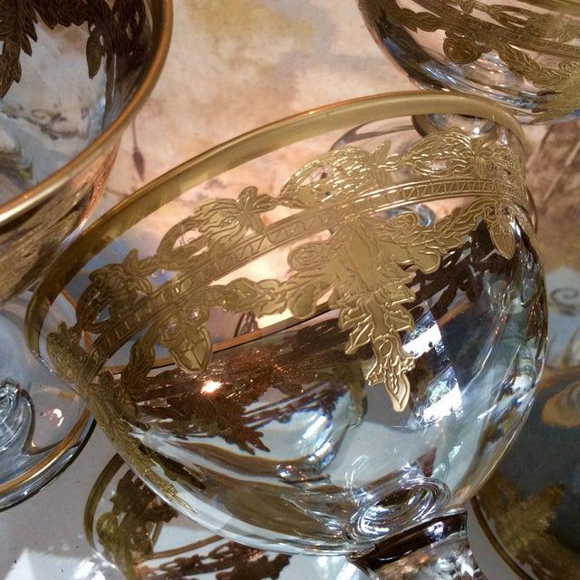 Arte Italica Vetro Gold Dessert Bowls - Set of 4 - Image 6 of 10