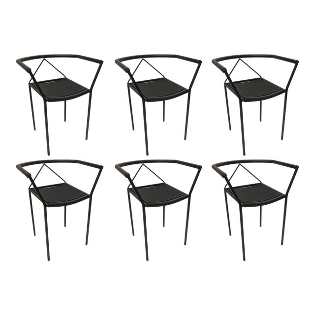 Maurizio Peregalli Poltroncina Armchairs Made in Italy by Zeus - Set of 6 For Sale
