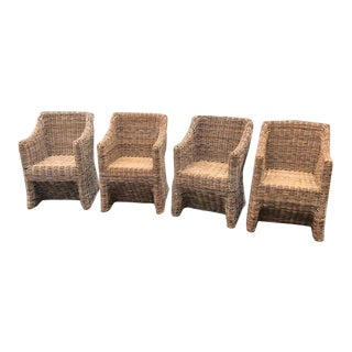 Vintage Wicker Chairs - Set of 4 For Sale