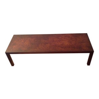 Mid Century Modern Coffee Table Lane Altavista, Virginia Faux Tortoise Shell Top For Sale