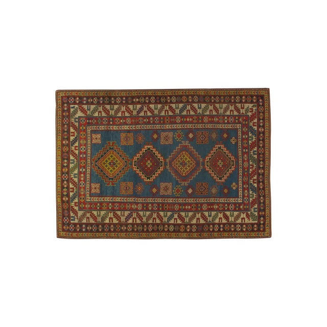Antique Kazak Carpet - 5′2″ × 7′ - Image 1 of 6