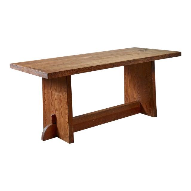 Axel Einar Hjorth Pine 'Lovö' Table for Nordiska Kompaniet, Sweden, 1930s For Sale