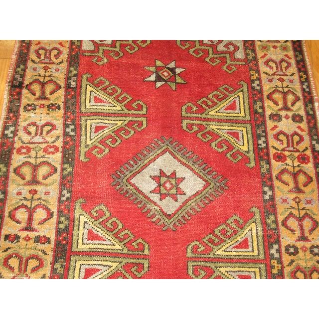 Turkish Vintage Handmade Tribal Rug - 3′2″ × 5′7″ For Sale - Image 3 of 6