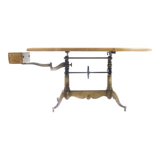 1920s Industrial Keuffel & Esser Drafting Table For Sale