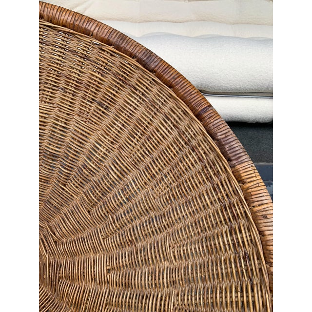 1950s Rattan Basket Armchairs - a Pair For Sale - Image 9 of 13