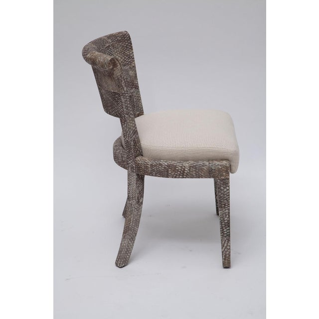 Pair of Fishskin Covered Chairs - Image 6 of 10
