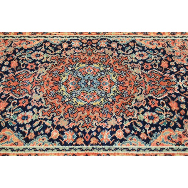 "Maroon Karastan Kashan Medallion 2'10"" X 5' Throw Rug #741 For Sale - Image 8 of 13"